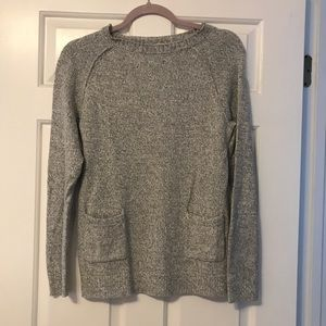 NWOT Pocket detail Gray Crewneck sweater